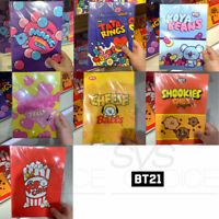 BTS BT21 Official Authentic Goods B5 Note Snack Ver 182x257mm 32P + Tracking#