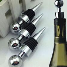Chrome Wine Beer Bottle Stopper Storage Cap Plug Reusable Corks Bar Kitchen Home