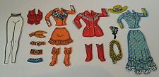 Vintage Barbie Doll Western Cowgirl Clothes Boots Colorforms Play Set 18 Pieces