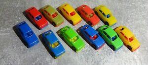 11x Fiat 127 Automodelle Plastik ca 4cm Italy gebraucht gut schöne Sammlerstücke