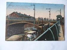 Ansichtskarte Herbesthal Brücke Bahnstrecke Köln Aachen Brüssel Paris 1915 Auto
