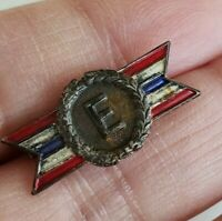 Vtg WWII Sterling Army Navy E Excellence Production Award Pin