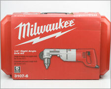 """New MILWAUKEE Corded Right Angle Drill Kit 1/2"""" - 3107-6 - In Case"""