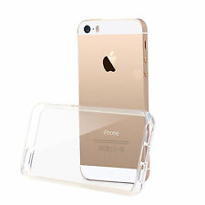 COVER GEL TPU TRASPARENTE SILICONE ANTIURTO RINFORZATA IPHONE 5 5S SE