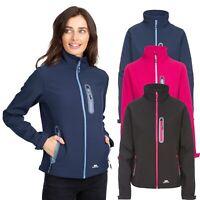 Trespass Hallie Womens Softshell Jacket In Pink Black & Navy