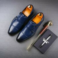 Mens Wing Tip Business Dress Formal Buckle Pointed Toe Leather Wedding Shoes Sz