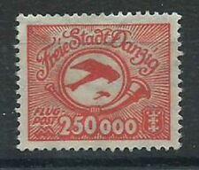STAMP DANZIG AIR SG 162a 1923 Wmk sideways Unused-no gum. Etrich/Rumpler Taube.