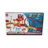 Fire team Road way toy garage play set with 2 cars/ car launcher and loop track