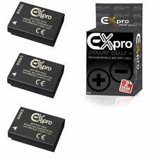 Ex-Pro DMW-BCG10E BCG10 BCG10E Battery for P@ L@ DMC Cameras 3 Pack