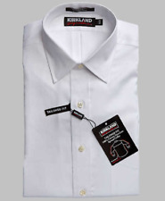 Kirkland Signature Men's Tailored Fit Dress Shirt, White, 16.5 , 34/35