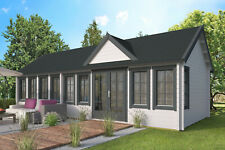 70 mm Gartenhaus ISO + Boden 930x400 cm Ferienhaus Blockhütte Holz Freizeithaus