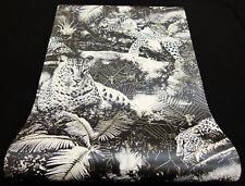 9765-10-) 3 Rollen moderne Vinyl Tapeten Tiger-Design schwarz weiss gold