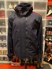 Superdry Japan Windcheater 3-Zipper Nylon Men's Jacket Navy Blue Size XL