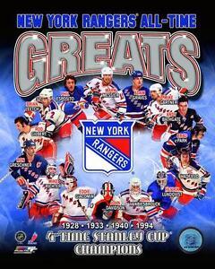 New York Rangers GREATS Mark Messier,Lundqvist,Mike Richter,Leetch++ 8x10 photo