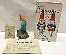 Vtg Mib 1993 Klaus Wickl Ollie Figurine Gnome Enesco elf Blow Pipe 323640