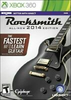 Xbox 360 Rocksmith All-New 2014 The Faster Way To Learn Guitar NO CABLE