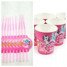20 pcs my little pony cup & straw birthday Decoration Party Supplies.