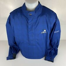 Shady Hollow Dry Joys By FootJoy Mens Golf Windbreaker Jacket Blue Geometric L