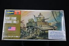 XO069 HASEGAWA 1/72 maquette tank char MB 003 250 US Army Light tank stuart Mk.1