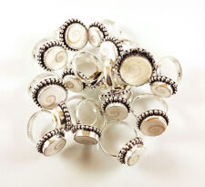 Shiva Eye Shell Gemstone 925 sterling silver overlay rings 1pcs