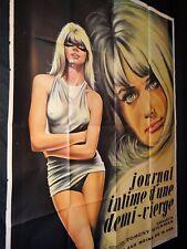 JOURNAL INTIME D' UNE DEMI- VIERGE  ! affiche cinema erotique sexy vintage 1969