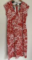 QUEEN CHRISTINE BOYLE divine Printed Pencil Midi Pinup Dress Size 12