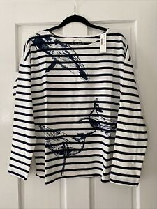 NWT J.Crew Women's Striped Long Sleeve T-shirt Size L
