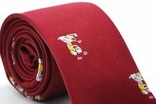 """Mickey Mouse Golf Tie Cervantes Red Polyester Men Disney Parks 58"""" L 2.75"""" W"""