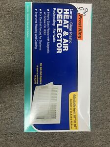 """Frost King HD9 Large Unbreakable Heat & Air Deflector, 16"""""""