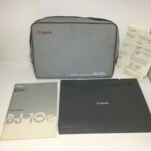 CANON BJ-10e BUBBLE JET PRINTER - NO POWER ADAPTER - FOR PARTS OR NOT WORKING
