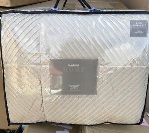 Kaleidoscope King Comforter Bedspread - Vanilla - NEW