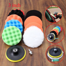 11pcs 3 Inch Polishing Buffer Sponge Pad Set Drill Adapter for Car Polisher