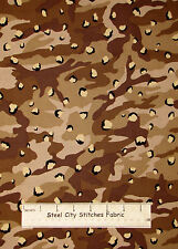 Camouflage Brown Spotted Camo Cotton Fabric VIP Standard Weight By The Yard