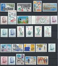 Monaco Lot 25 timbres Neuf** (MNH) 1985 - 97 (lot X)