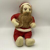 Vintage Folk-Art Handmade Cloth Santa