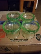 uranium glass desert cups set of four