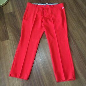 Men's Adidas Golf Pants Size 40 x 32 Orange Lightweight Casual Comfort Neon