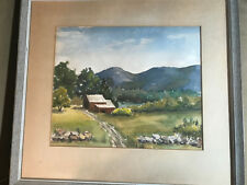 """Harriet Hoyle 1967 """"Near Andover, Oxford County Maine"""" Watercolor -Signed/Framed"""