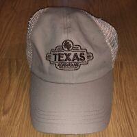 Texas Roadhouse Trucker Hat Beige Strapback Adjustable Fahrenheit Headwear
