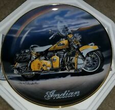 "Royal Doulton ""The 1953 Roadmaster"" Indian Motorcycle Plate Franklin Mint Coa"