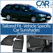 Peugeot 406 Estate 95-04 UV CAR SHADE WINDOW SUN BLINDS PRIVACY GLASS TINT BLACk