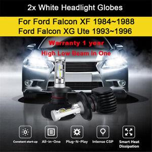 For Ford Falcon XF 1985 1986 LH+RH Head Light Globes High low beam LED Bulbs kit