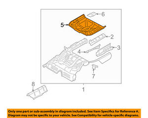 FORD OEM Rear Floor Rails-Spare Tire Panel 8G1Z5411215AA