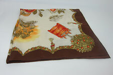 AUTH VINTAGE LONGCHAMP SILK SCARF/SHAWL  MADE IN ITALY