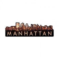 Manhattan Skyline Metal Tin Sign New York City NYC