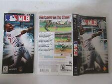 PSP PLAYSTATION MLB 989 SPORTS BASEBALL GAME BOX AND MANUAL ONLY NO DISC- L33