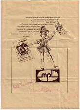MPL WINGS SONG SHEET SIGNED BY PAUL & LINDA McCARTNEY AUTOGRAPHS 1979 BEATLES