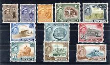 CYPRUS 1955 DEFINITIVES SG173/183 BLOCKS OF 4 MNH