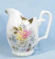 Vintage Chrysanthemum Flowers Creamer Cream Pitcher Whiteware Porcelain AS IS