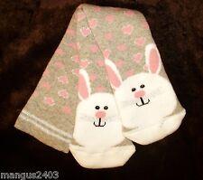 Les filles qualité thermique ski chaussettes Boot Bottes gris rose white rabbit 6 / 8uk 23 / 26eu